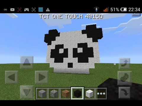 art pixel comment faire une tête de panda sur minecraft youtube