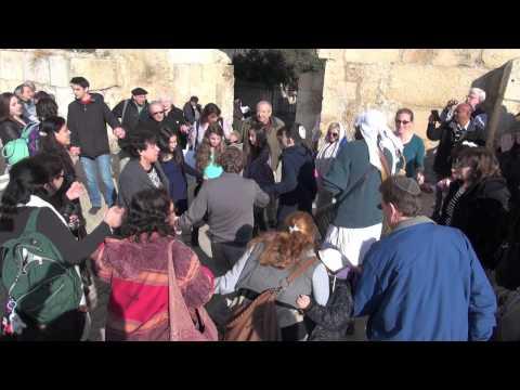 Temple Gates Of Prayer Celebrating Bar & Bat Mitzvah In Jerusalem
