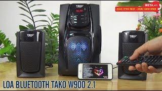 Test nhạc hay, nghe đài FM với loa bluetooth Tako W900 2.1 giá chỉ hơn 1 triệu