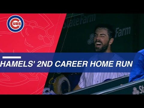 Cole Hamels belts his 2nd career home run