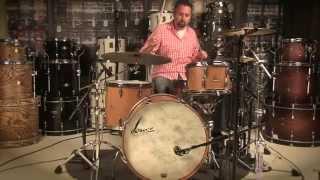 Video Demo: Sonor Vintage Series 3pc Rock Drum Set Vintage Natural // 22/13/16