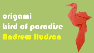 Origami Bird Of Paradise By Andrew Hudson