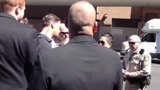 Las Vegas Police Confronting Taylor Swift stalker at ACM Awards Red Carpet