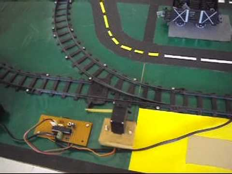 Automatic railway gate control and track