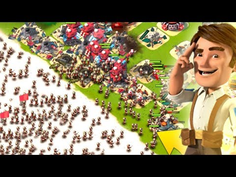 Boom Beach INSANE Hammerman Strikes Back Challenge! Defending Hammerman!