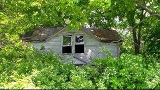 abandoned house tucked away