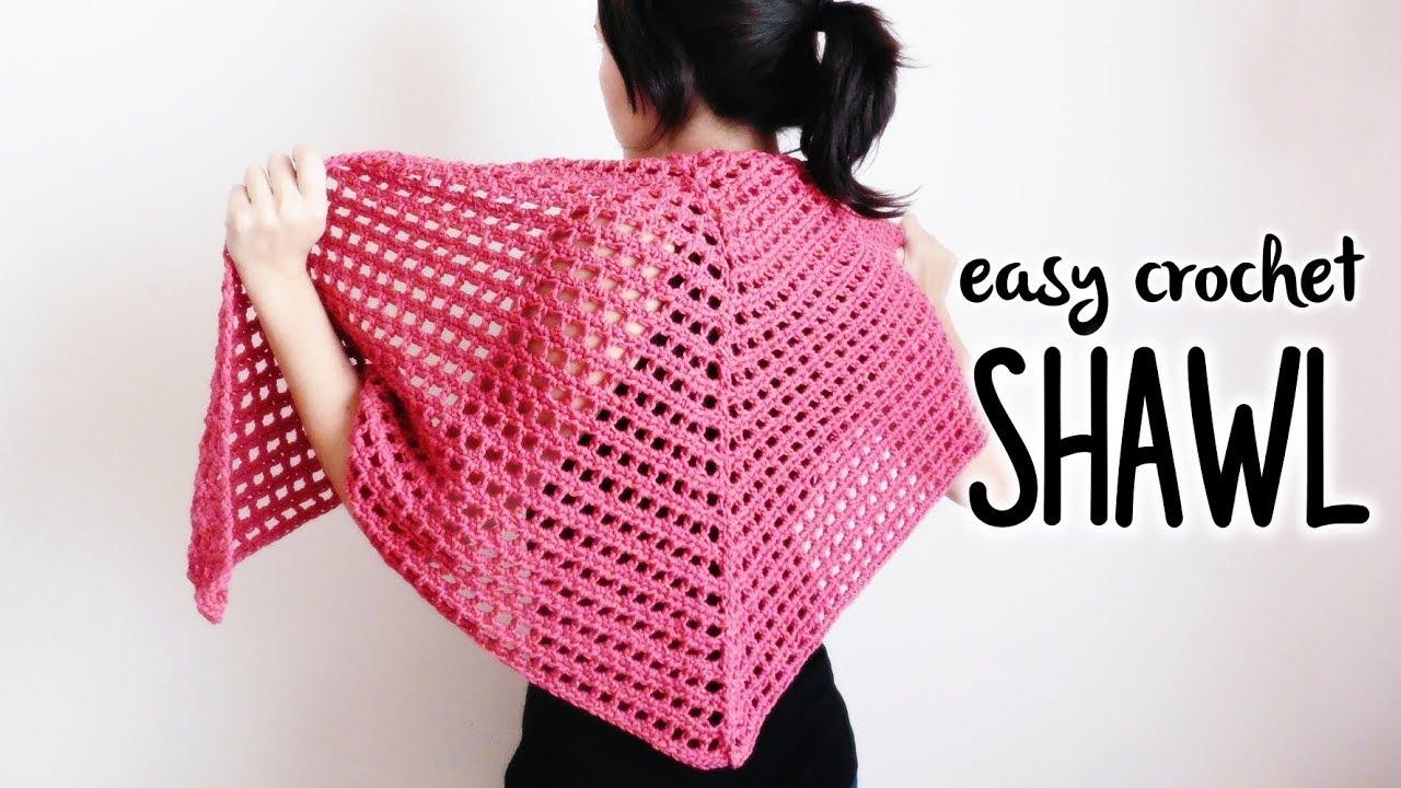 How To Crochet Triangle Shawl Easy Crochet Shawl Crochet