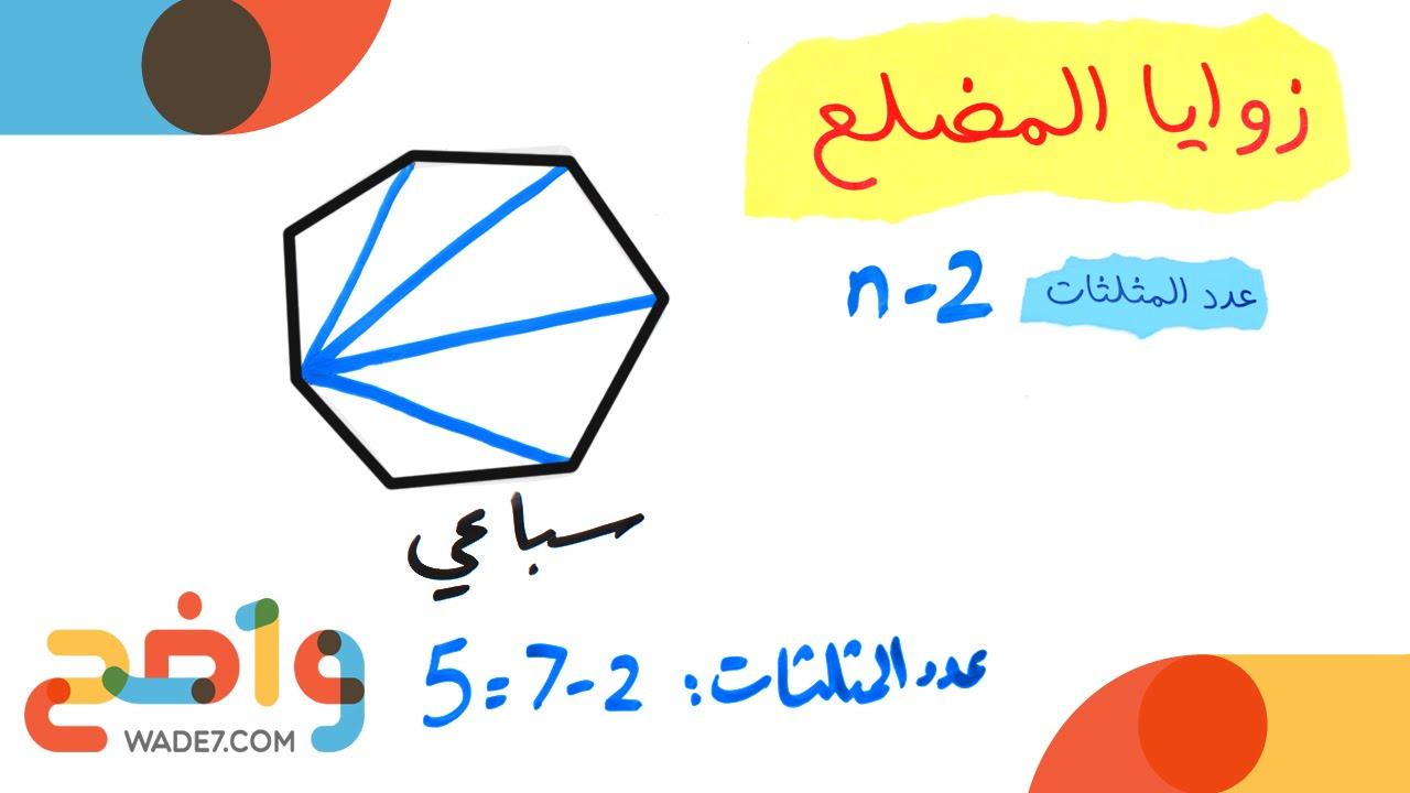 زوايا المضلع رياضيات أول ثانوي الفصل الثاني Youtube