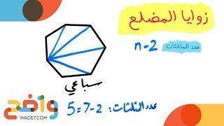 زوايا المضلع (رياضيات أول ثانوي/ الفصل الثاني)