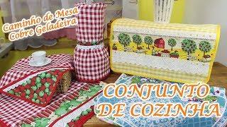 CONJUNTO DE COZINHA – CAMINHO DE MESA OU COBRE GELADEIRA