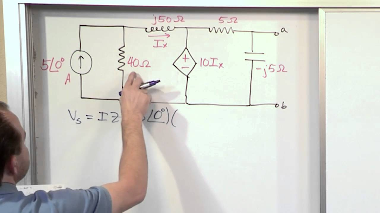 Lesson 4 Ac Thevenin Equivalents Part 3 Circuit Analysis Find The Thvenin Equivalent With Respect To 1nf Capacitor