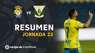 Resumen de UD Las Palmas vs CD Leganés (2-1)