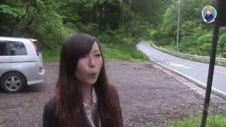 Японка свистит. Я и Мики учимся свистеть в лесу