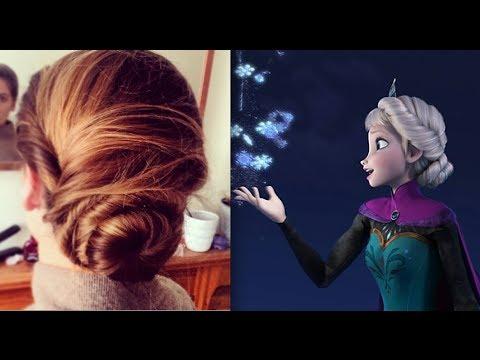 Elsas Hair Tutorial Coronation Updo Hairstyle Frozen Olivia