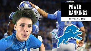 Detroit Lions Power Rankings! Taking A Step BACK?! Detroit Lions Talk
