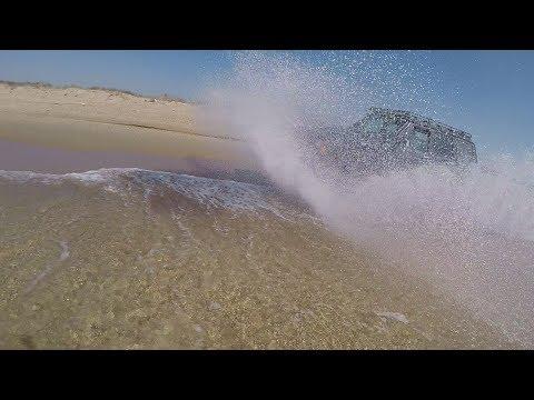 Езда по песку на Бугазской косе на Jeep Cherokke, Nissan Patrol и Toyota Surf