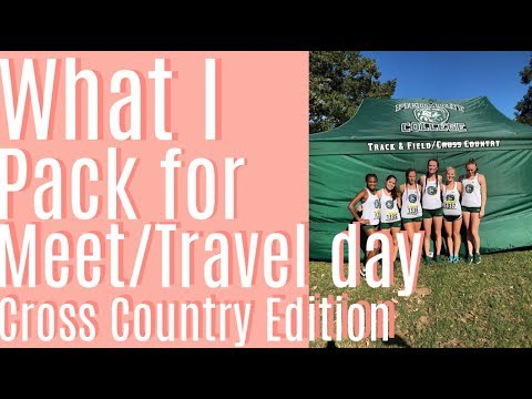 What I Pack For A Meet/travel Day | Cross Country Edition