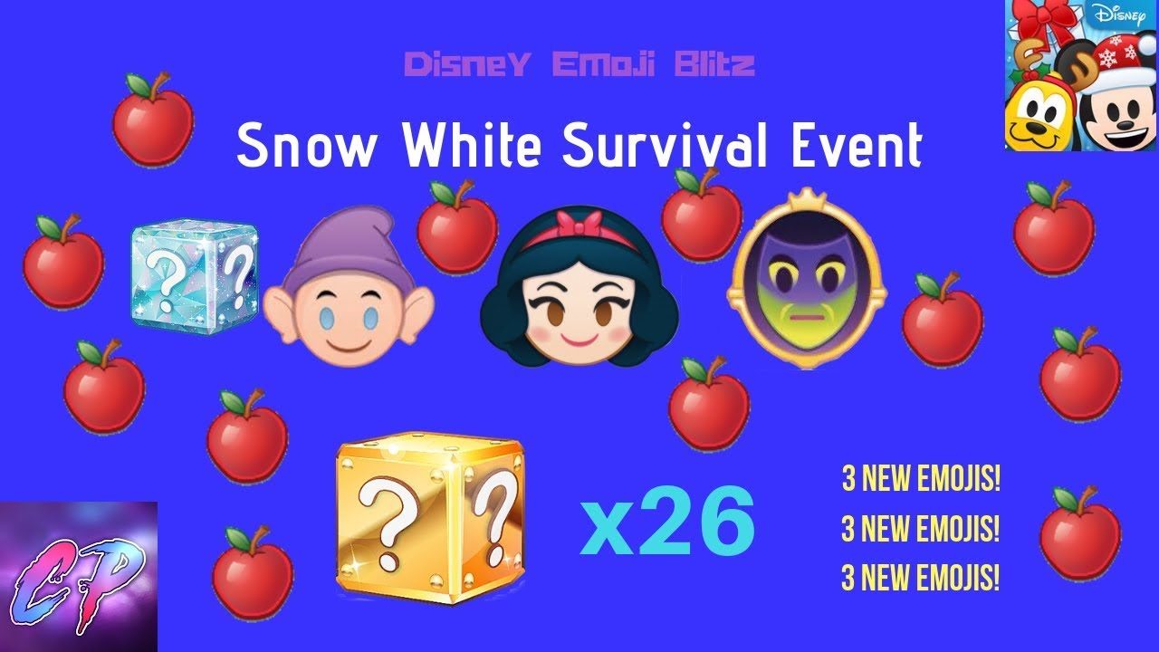 Snow White Survival Event And 26 Gold Boxes Disney Emoji Blitz Youtube
