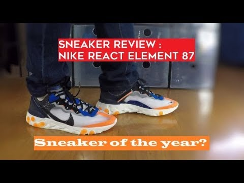 outlet store 91c32 93ab2 Nike React Element 87 Thunder Blue   Total Orange - Sneaker Review