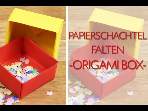 papierschachtel falten origami schachtel anleitung youtube. Black Bedroom Furniture Sets. Home Design Ideas