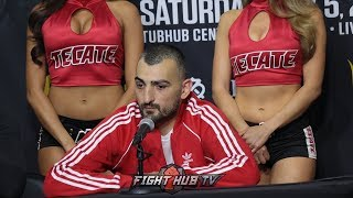 VANES MARTIROSYAN SPEAKS ON BIG KO LOSS TO GENNADY GOLOVKIN - FULL POST FIGHT PRESS CONFERENCE