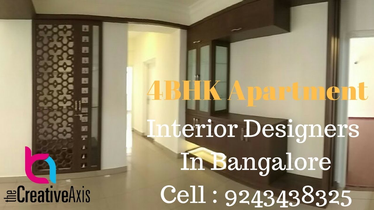 Apartment Interior Design Bangalore 4bhk apartment interior design in bangalorecreative axis - youtube
