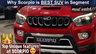 Top 10 Unique Features of Scorpio 2018 | Top Reasons to buy Scorpio over Creta,Safari,Innova