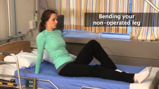 How to get out of bed after hip replacement surgery