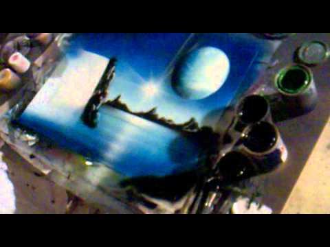 Spraydosenbild Strand Karibik Making of