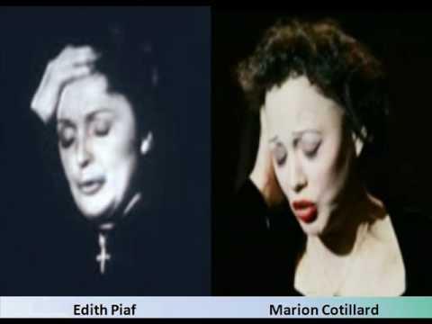 Edith Piaf and Marion Cotillard Comparison