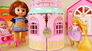 Princess baby doll house mini castle toys baby Doli play