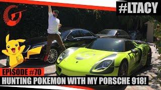 فيديو شخص يطارد البوكيمون بسيارته البورش الفارهة!