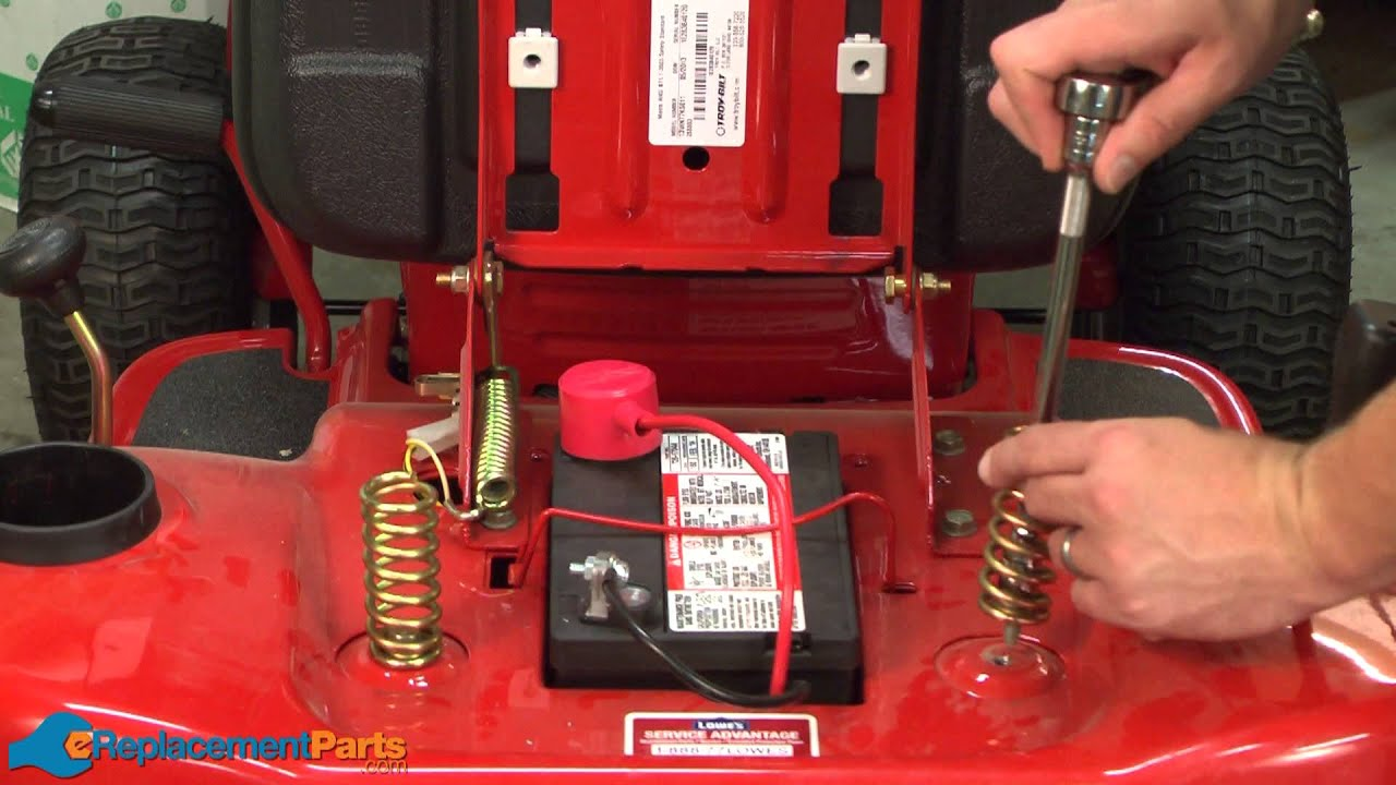 11 Hp Briggs And Stratton Wiring Diagram How To Replace The Seat Springs On A Troy Bilt Pony Lawn