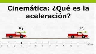 Cinemática - ¿Qué es la aceleración?