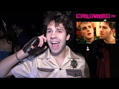 David Dobrik Calls Shane Dawson & Speaks On His Jake Paul Series At The Casamigos Halloween Party