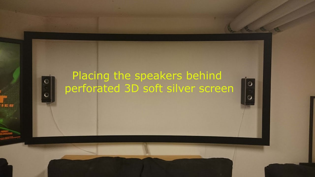 New perforerated curved 4K Evo 3D silver screen Project Car video  Part 1  of 2