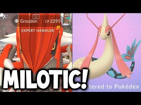 "HOW I GOT ""MILOTIC"" IN POKEMON GO! (+Groudon AR Plus Encounter!) NEW POKEMON GO MILOTIC EVOLUTION!"