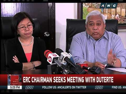 ERC commissioners to defy Duterte's call to resign