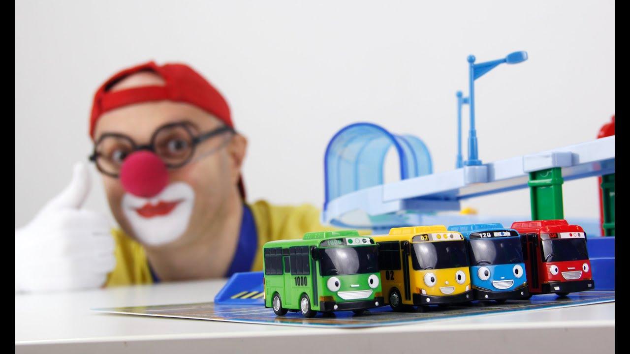 Тайо маленький автобус. Учим цвета и цифры. Клоун Дима ...