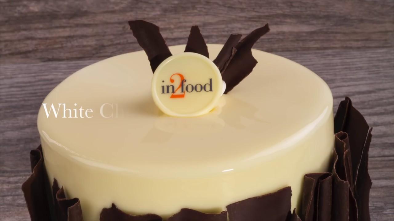 White Chocolate Mirror Glaze Cake - YouTube