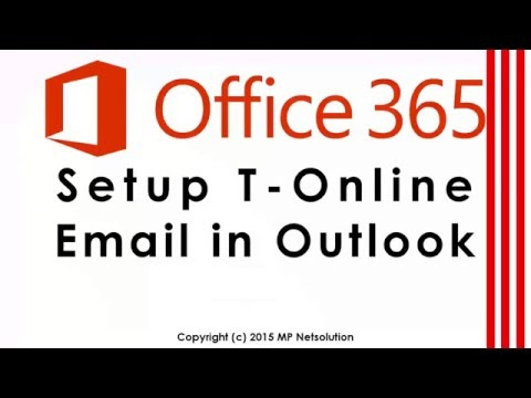 Office365 - T-Online Email in Outlook hinzufügen