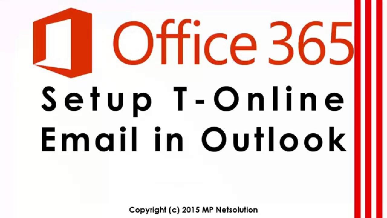Office9 - T-Online Email in Outlook hinzufügen