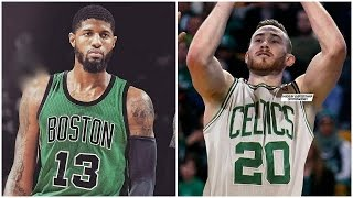 Image result for paul george gordon hayward celtics