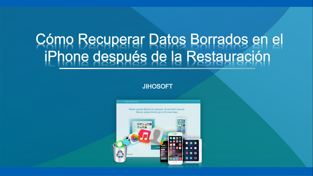 recuperar datos iphone restaurado