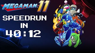 Mega Man 11 Any% Speedrun in 40:12
