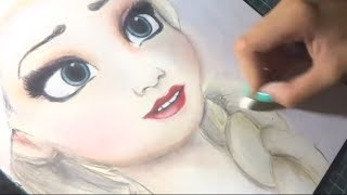 Speed Drawing: Elsa of Frozen by Diana Diaz