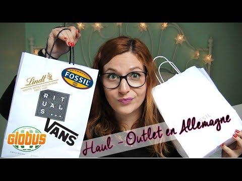Haul - Fashion Outlet en Allemagne [Fossil, Vans, Globus, Rituals et Lindt]