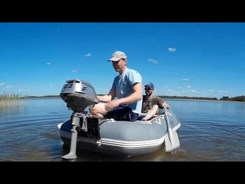 видео: Бензиновый мотор honda bf 2.3 на навесном транце! Тестируем...