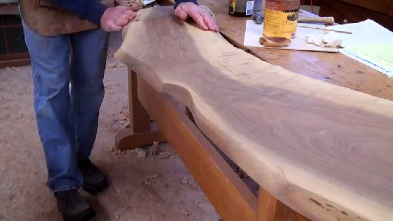 Live Edge Walnut Countertop With Tom Mclaughlin Youtube