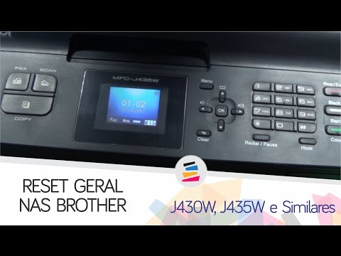 Tutorial - RESET GERAL ERRO 46 ABSORVENTE CHEIO BROTHER J430W J435W E SIMILARES - SULINK
